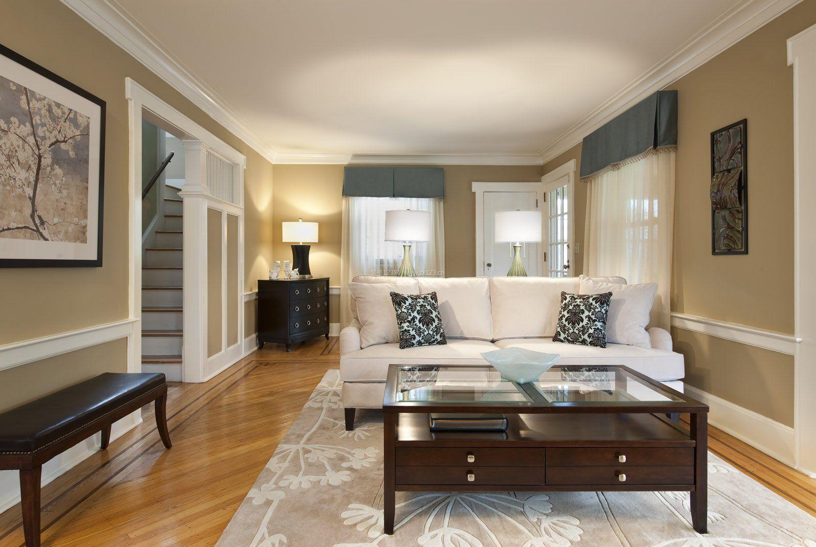 欧式简约复式客厅家装装修效果图