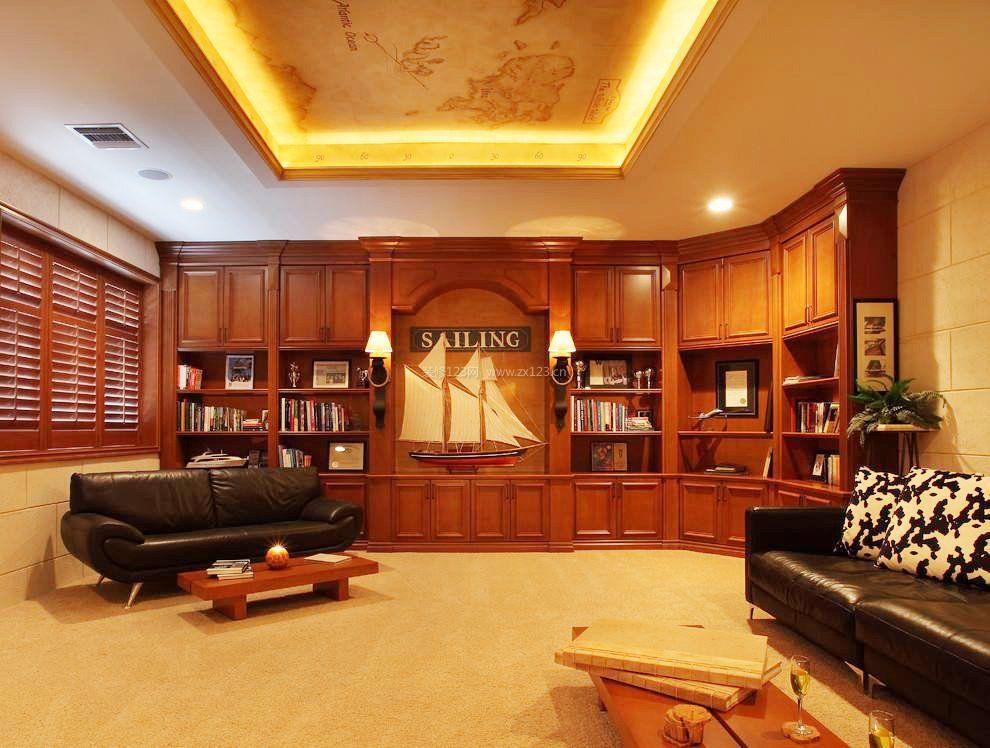 家装效果图 欧式 现代欧式混搭风格书柜装修效果图