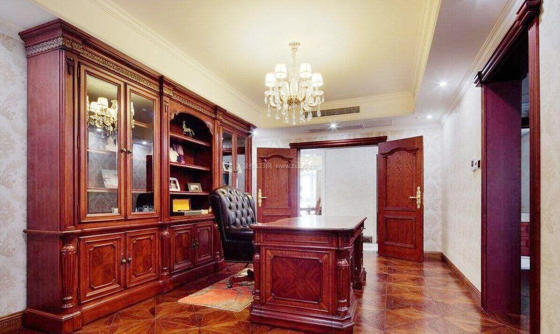 欧式风格书柜室内家居装修图片2017图片