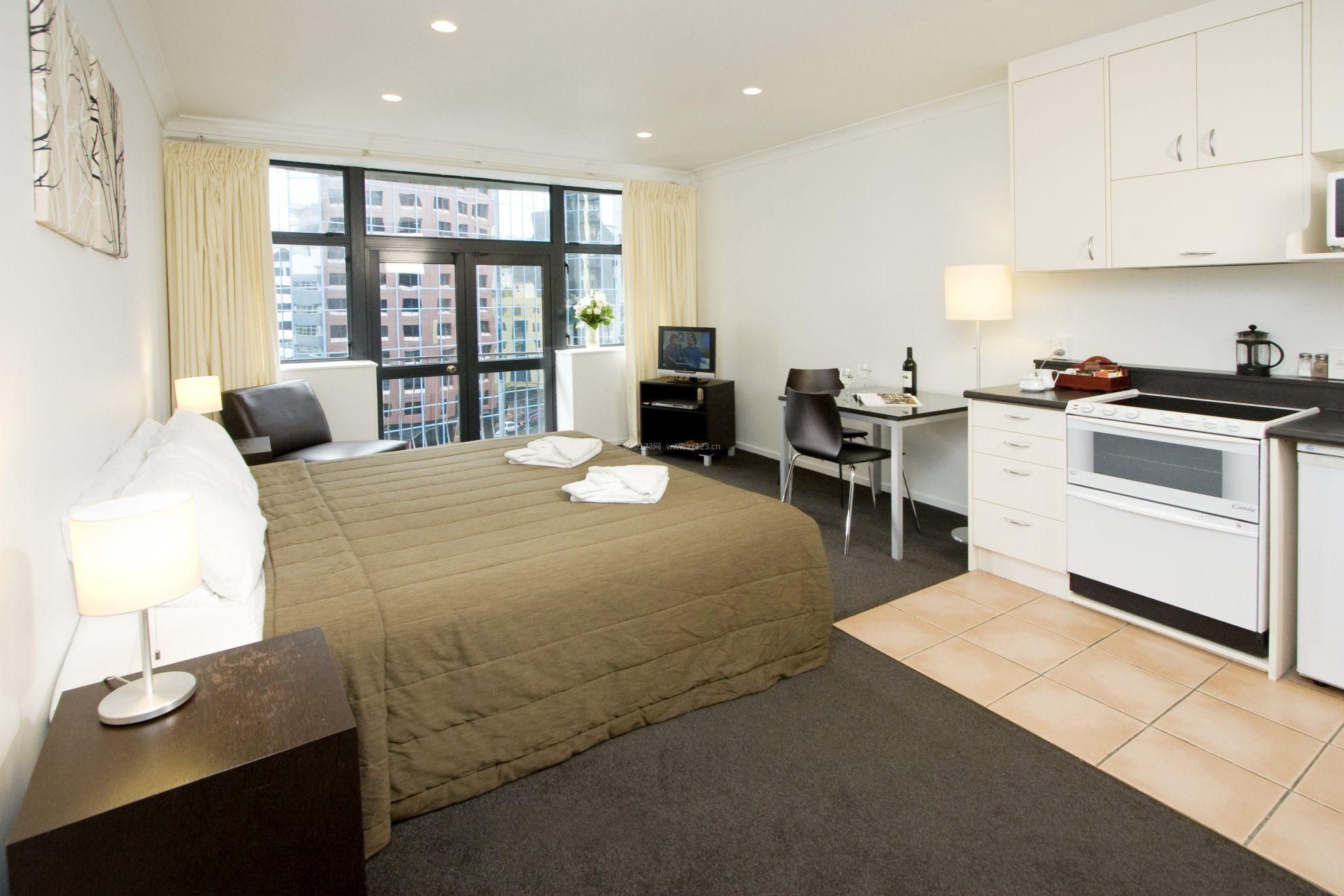 38平米一室一厅单身公寓室内装修效果图片_装