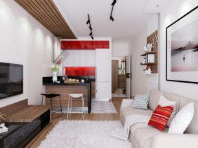 30平米客廳簡單 木吊頂
