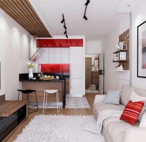 30平米客廳簡單木吊頂-每日推薦