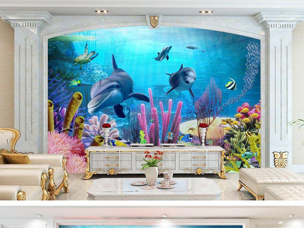 欧式客厅3d电视背景墙装修效果图2017小户型