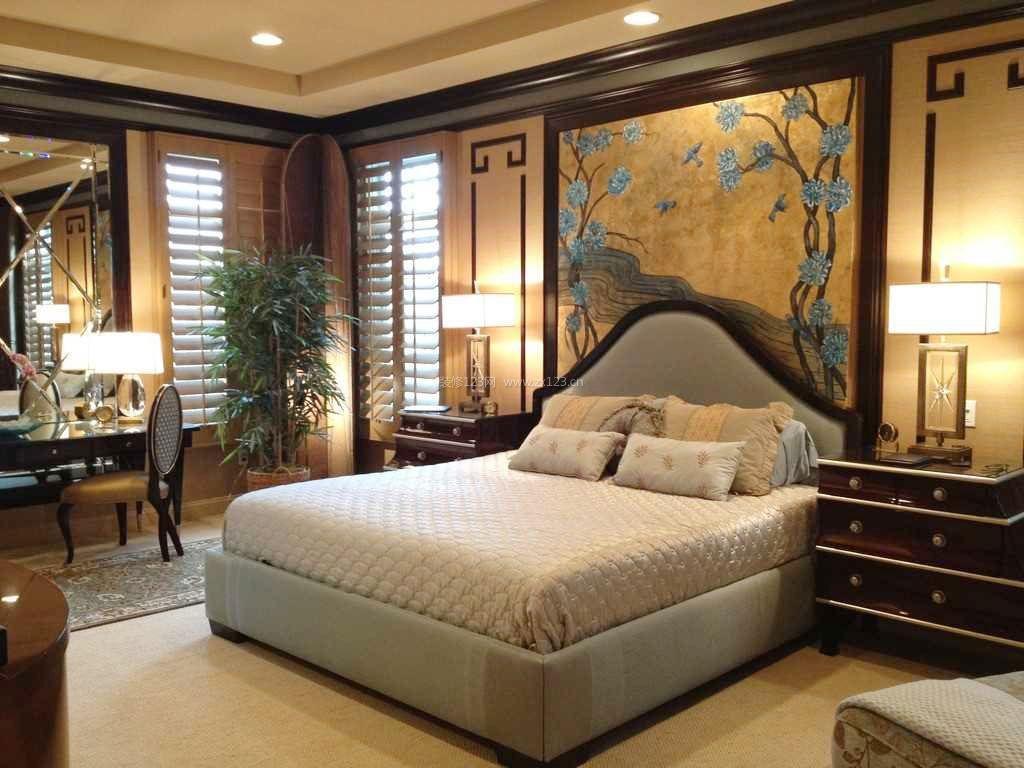 新中式家居卧室装修效果图小户型