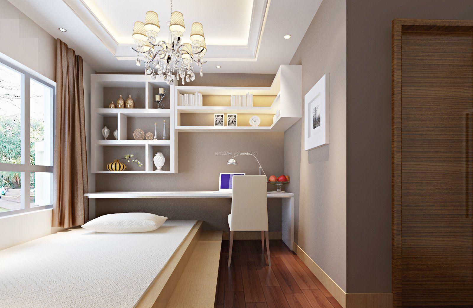 家装效果图 日式 房屋日式榻榻米书房装修设计图集 提供者