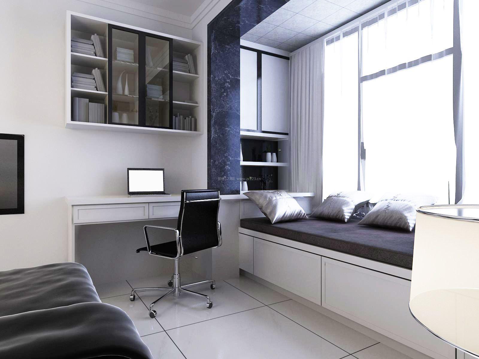 现代卧室阳台榻榻米床装修效果图