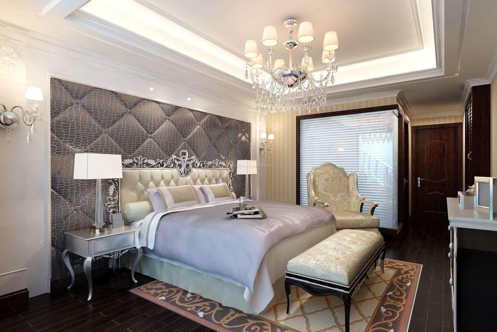欧式卧室床头软包背景墙设计效果?#35745;? width=