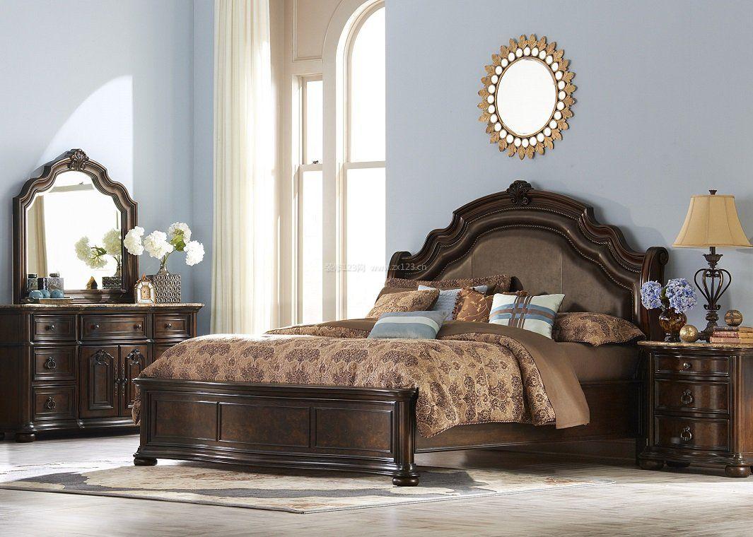 欧式风格卧室床头背景装饰