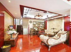 中式復式樓現代客廳效果圖