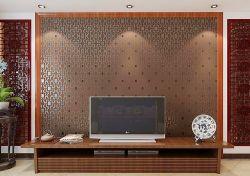 简中式小客厅电视背景墙效果图图片