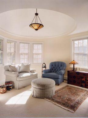 房屋客厅顶灯具装修设计图