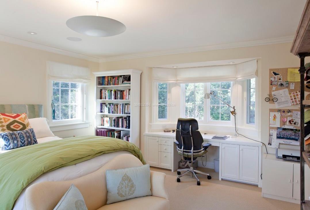 家装效果图 飘窗 房屋飘窗书桌设计图片 提供者