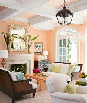 客廳乳膠漆顏色 恬淡田園風格