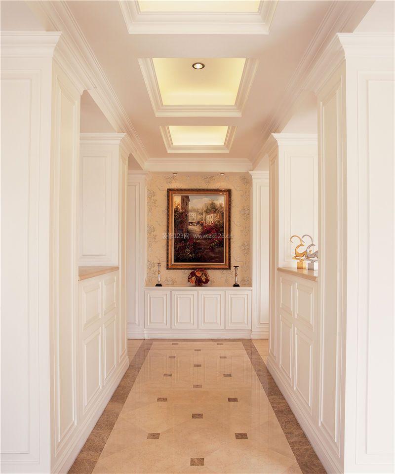 家装效果图 欧式 欧式别墅过道吊顶装修设计效果图片