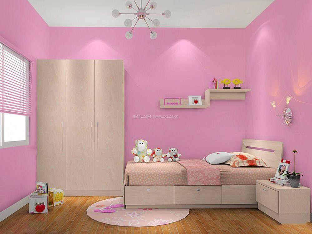 现代简约卧室硅藻泥背景墙装修效果图2017