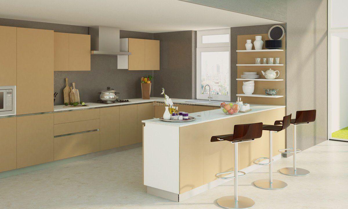 现代u型厨房设计效果图