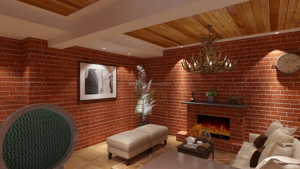 简约中式别墅生态木吊顶装修效果图