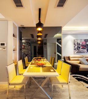2017房屋客厅餐厅一体吊顶设计效果图