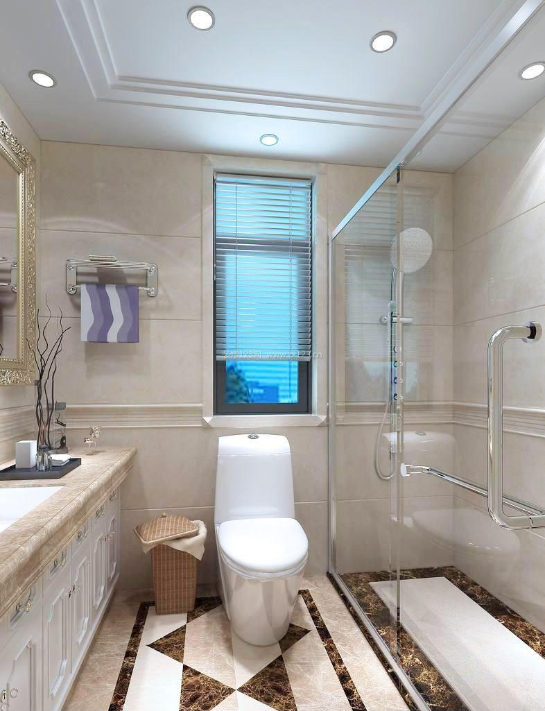 小户型卫生间瓷砖设计装修图片