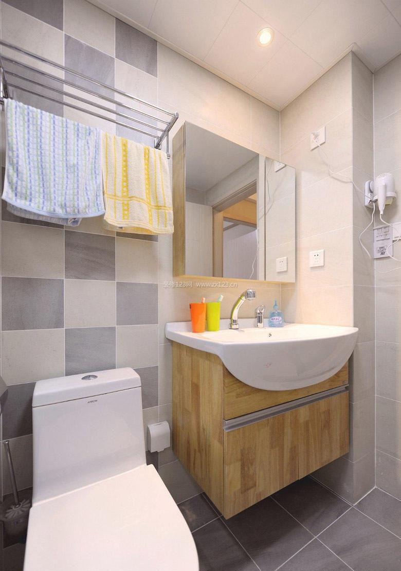小户型室内卫生间瓷砖装修图片2017