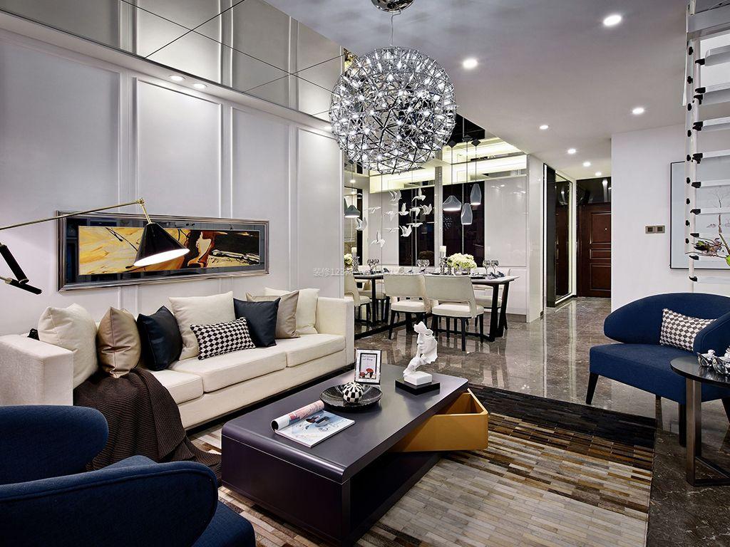 小户型复式楼客厅装修图片效果图图片