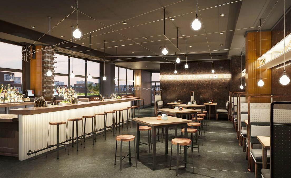100平米餐厅吧台隔断装修效果图