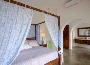90平地中海风格 床缦装修效果图片