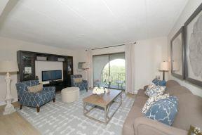 90平地中海风格 客厅阳台装饰图片