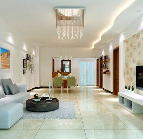 现代简约客厅壁纸电视墙装修效果图-每日推荐