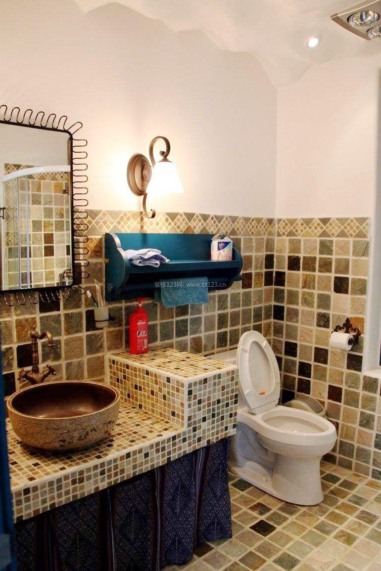 家装效果图 地中海 4平米卫生间地中海风格梳妆台装修效果图 提供者