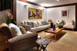 室內現代風格設計客廳家具擺放圖片