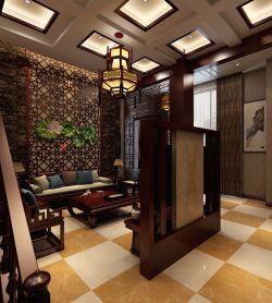 复式住宅挑高客厅电视背景墙装修图欣赏图片