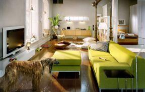 现代家居客厅 80平方二室一厅装修效果图