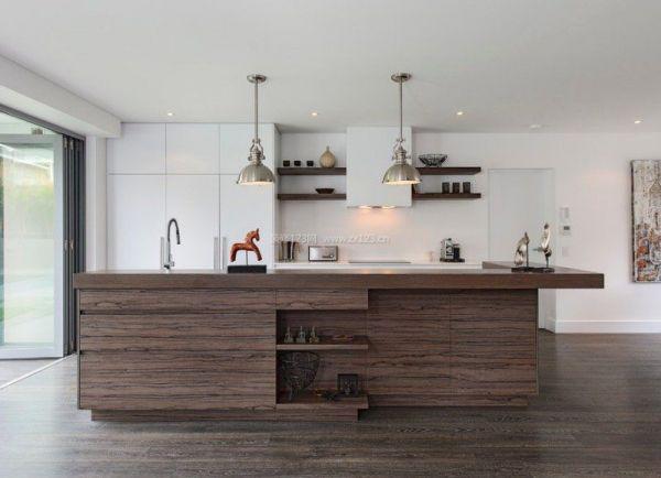 现代化新房开放式厨房设计图片