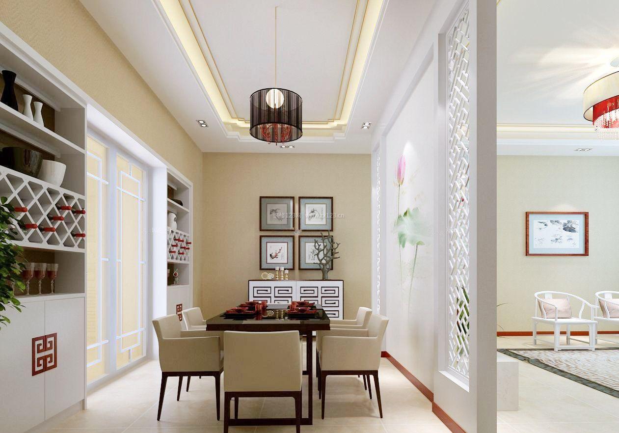 新中式厨房与客厅隔断设计装修效果图大全