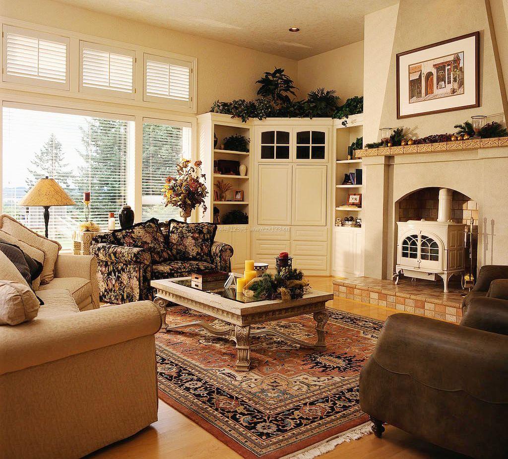 小户型客厅别墅风格田园室内设计效果图湾尔别墅区图片