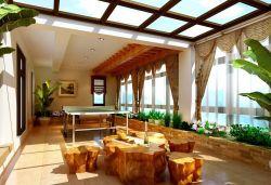 陽臺茶室設計圖新中式風格