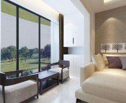 現代新中式家裝陽臺茶室效果圖