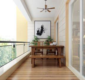 阳台茶室 新中式阳台装修效果图