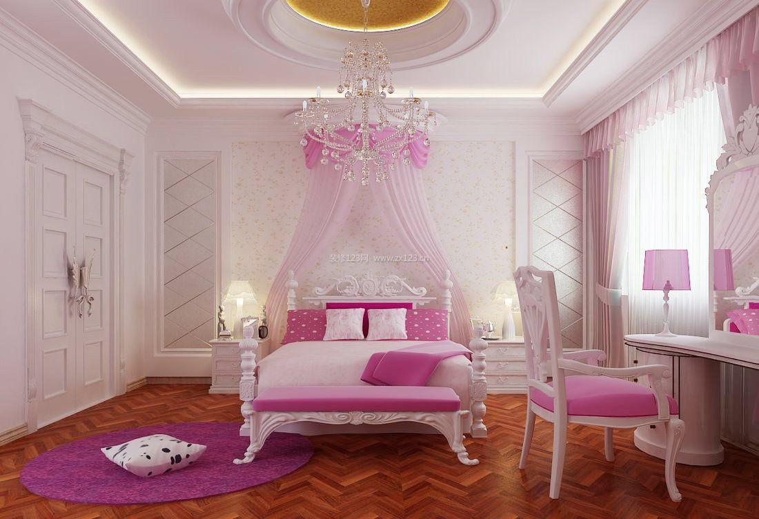 别墅简欧家居公主卧室设计装修效果图