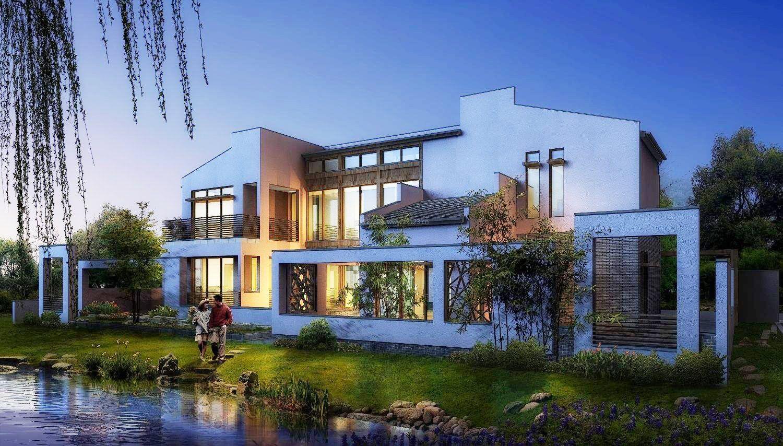 最新现代中式风格别墅外观图片图片