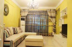 東南亞客廳風格轉角沙發裝修效果圖片
