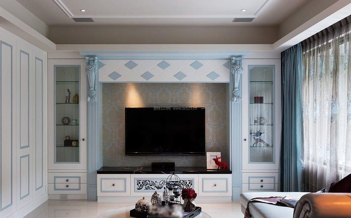 客厅大电视背景墙设计效果图片