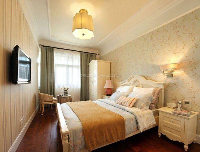 美式田园家居长方形卧室装修图图片