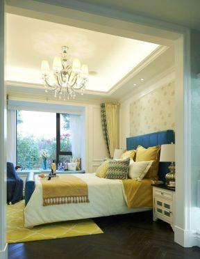 长方形卧室装修图 2017卧室吊顶效果图