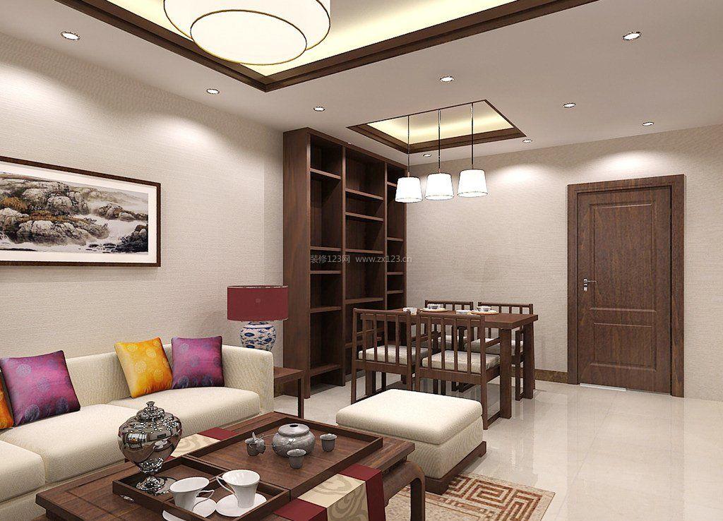 80平米小户型新中式风格室内装修设计图_装修123效果图图片