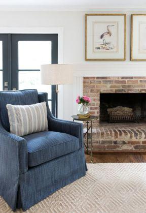 现代简约风格房屋 壁炉装修效果图片