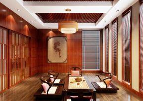 新中式装修风格图 中式古典茶室装修效果图