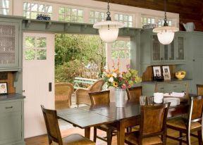 鄉村風格餐廳 折疊餐桌圖片