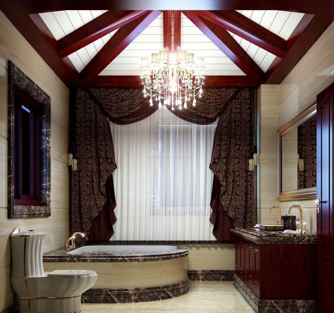 家装中式别墅吊顶造型图片大全图片